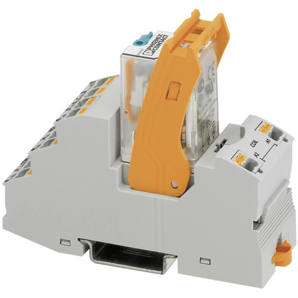Relaisbaustein (value.1292895) 1 stk Phoenix Contact RIF-2-RPT-LV-24AC/2X21 Nominel spænding: 24 V/AC Brydestrøm (max.): 8.5 A 2