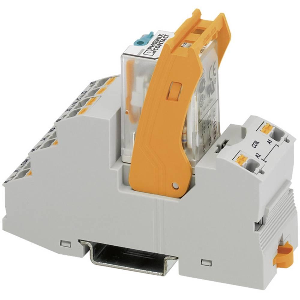 Relækomponent 1 stk Phoenix Contact RIF-2-RPT-LV-120AC/2X21 Nominel spænding: 120 V/AC Brydestrøm (max.): 8.5 A 2 x omskifter