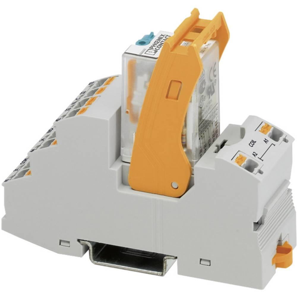 Relaisbaustein (value.1292895) 1 stk Phoenix Contact RIF-2-RPT-LDP-24DC/4X21 Nominel spænding: 24 V/DC Brydestrøm (max.): 6 A 4