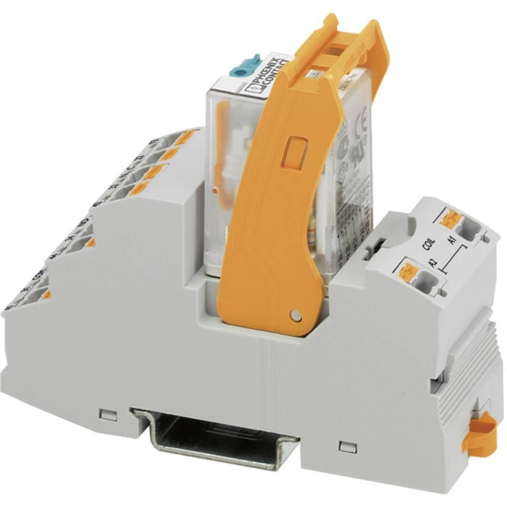 Relækomponent 1 stk Phoenix Contact RIF-2-RPT-LV-120AC/4X21 Nominel spænding: 120 V/AC Brydestrøm (max.): 5 A 4 x omskifter