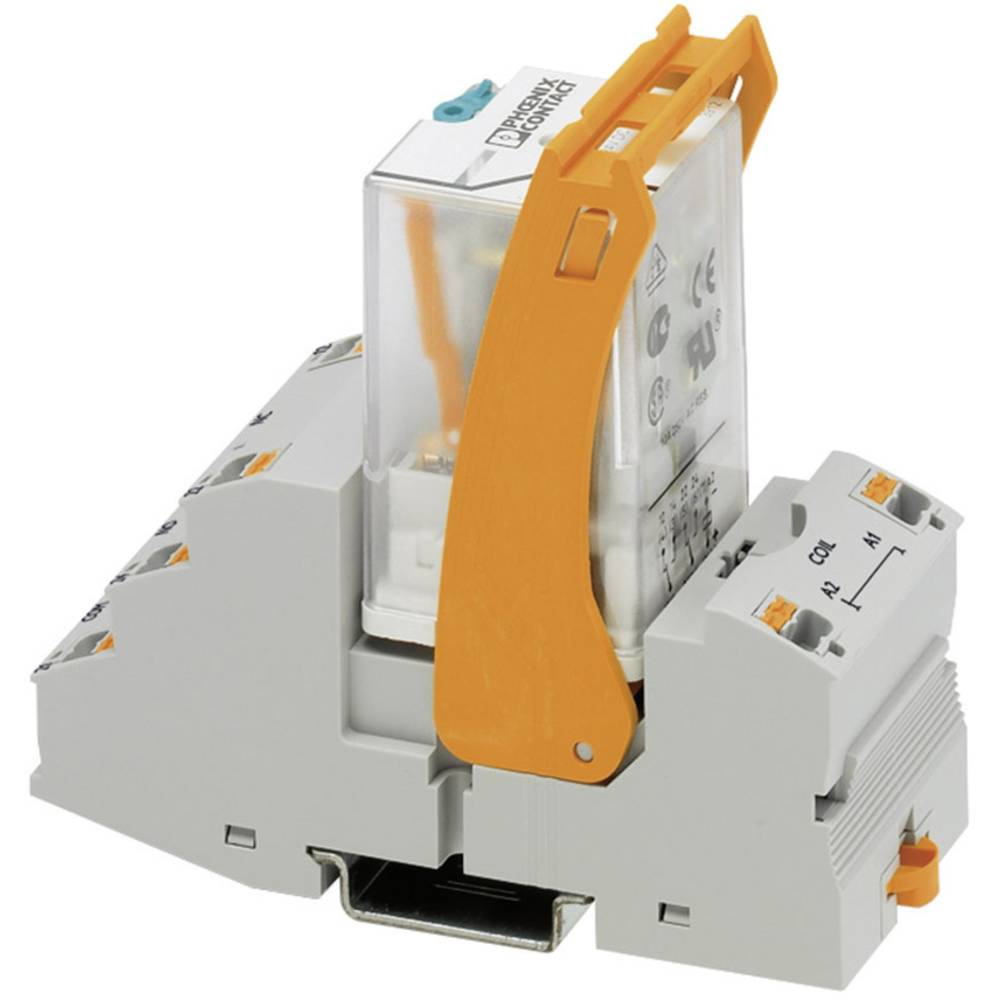 Relækomponent 1 stk Phoenix Contact RIF-3-RPT-LDP-24DC/2X21 Nominel spænding: 24 V/DC Brydestrøm (max.): 10 A 2 x omskifter