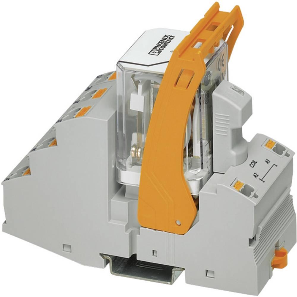 Relækomponent 1 stk Phoenix Contact RIF-4-RPT-LDP-24DC/3X21 Nominel spænding: 24 V/DC Brydestrøm (max.): 10 A 3 x omskifter