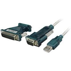 USB 2.0 Tilslutningskabel LogiLink [1x USB 2.0 Stecker A (value.1391172) - 1x D-SUB-Stecker 9pol. (value.1391093), D-SUB-Stecker