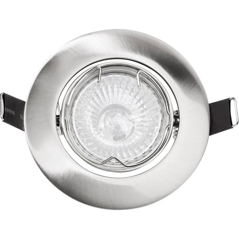Vgradna svetilka, stropni obroč Basetech Standard CT-3107, GU10, krtačen krom, kovina