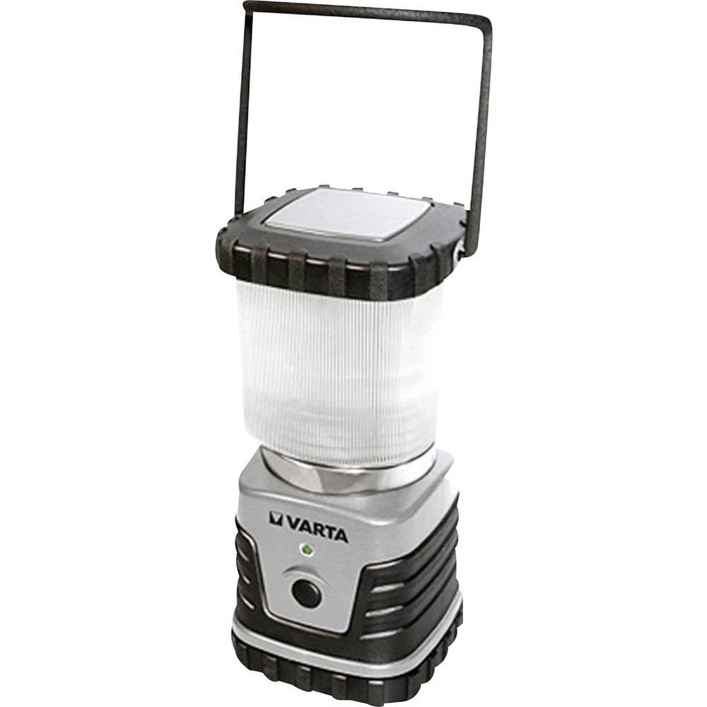 LED laterna za kampiranje Varta 3D, 18663101111, srebrno-črna, 100 %: 72 h, 50 %: 150 h, brez baterij
