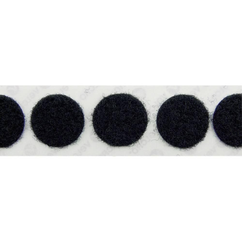 Sprijemalne točke Velcro E20101933011425, mehak del, premer: 19 mm, črne barve, 1120 kosov