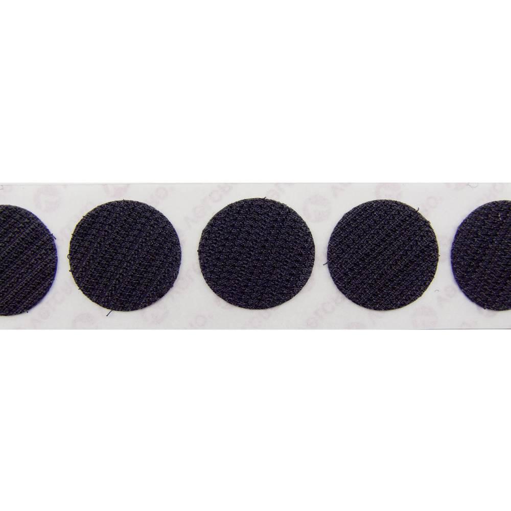 Sampljepljivi krugovi s čičkom Velcro prianjajući dio () 19 mm crna E28801933011425 1120 komada