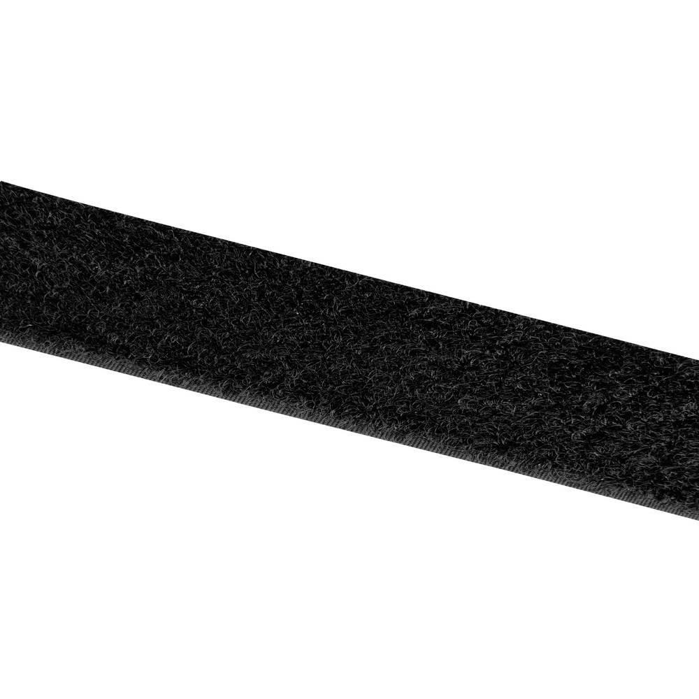 Sprijemalni trak za prišivanje Velcro E001025330F1825, mehak del, 25 m x 25 mm, črn