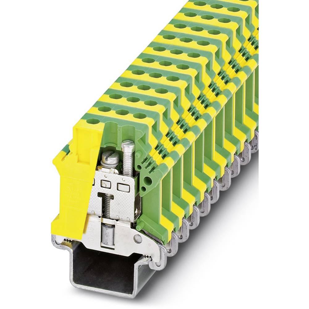 Beskyttende dirigent terminal USLKG16 N-1 Phoenix Contact USLKG16 N-1 Grøn-gul 50 stk