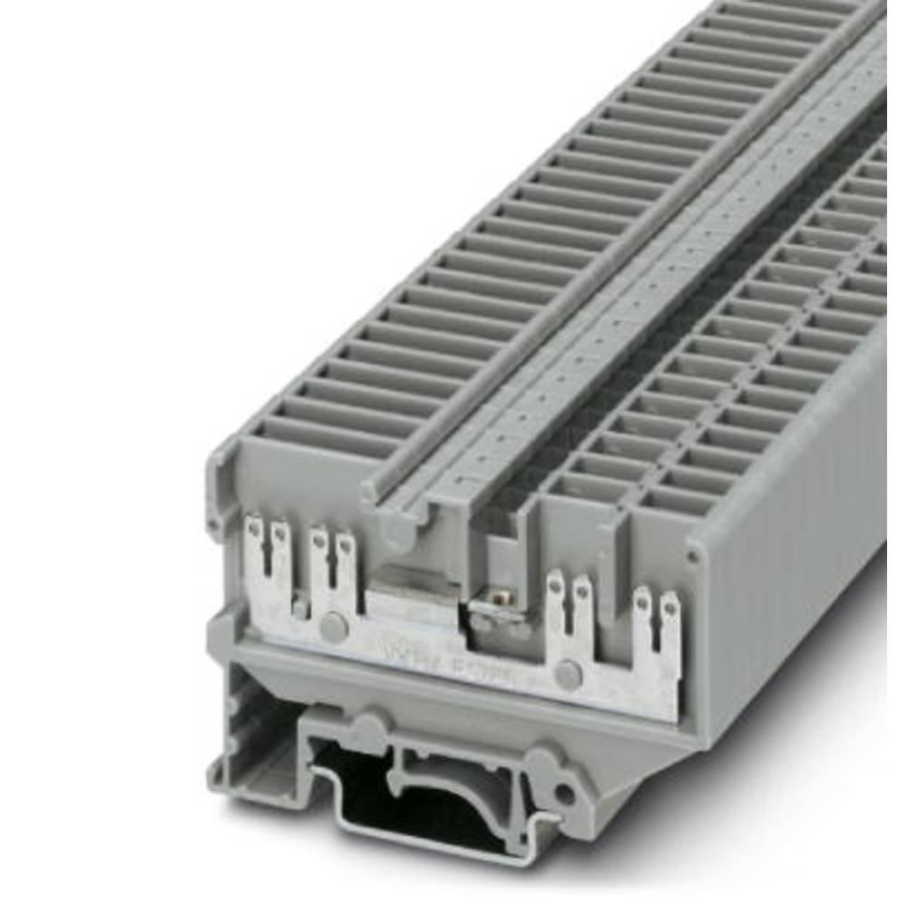 Gennem terminal UVKB 4-FS / FS (8-2,8-0,8) Phoenix Contact UVKB 4-FS/FS(8-2,8-0,8) Grå 50 stk