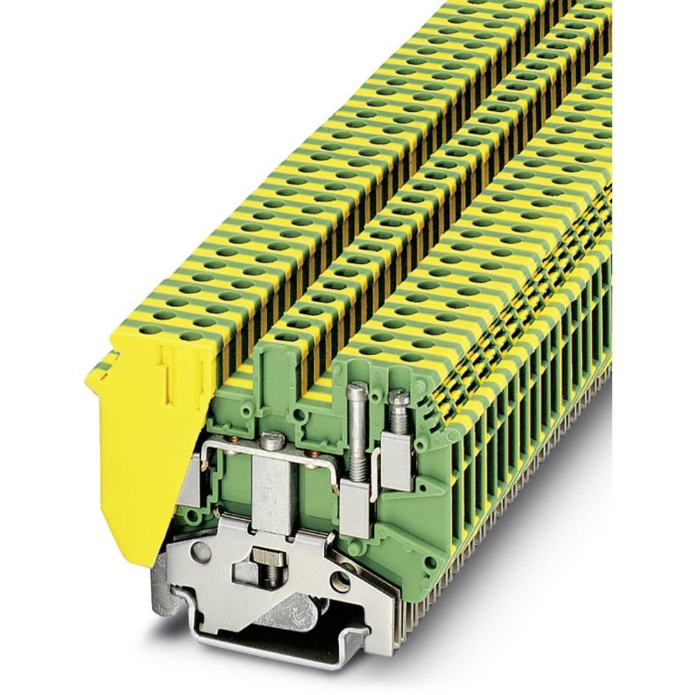 Feed-through terminal block UDK 3-PE Phoenix Contact UDK 3-PE Grøn-gul 50 stk
