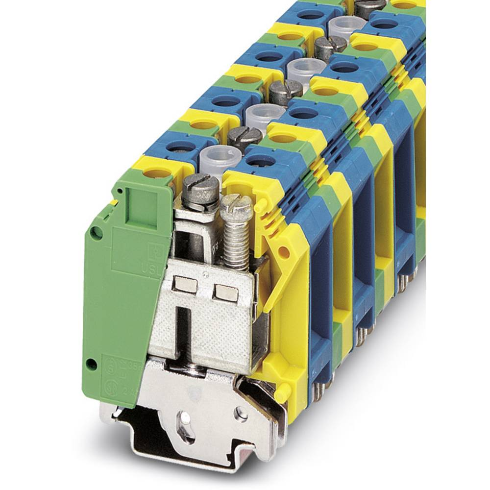Beskyttende leder klemrække UK 35-1-PE / N Phoenix Contact UK 35-1-PE/N Grøn-gul 10 stk