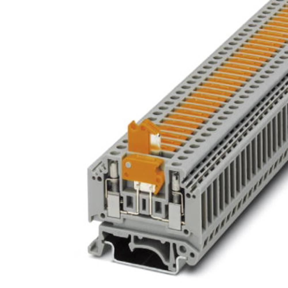 Ark / modulopbyggede afbryde terminal MTK-P / P med lås Phoenix Contact MTK-P/P MIT SPERRE Grå 50 stk