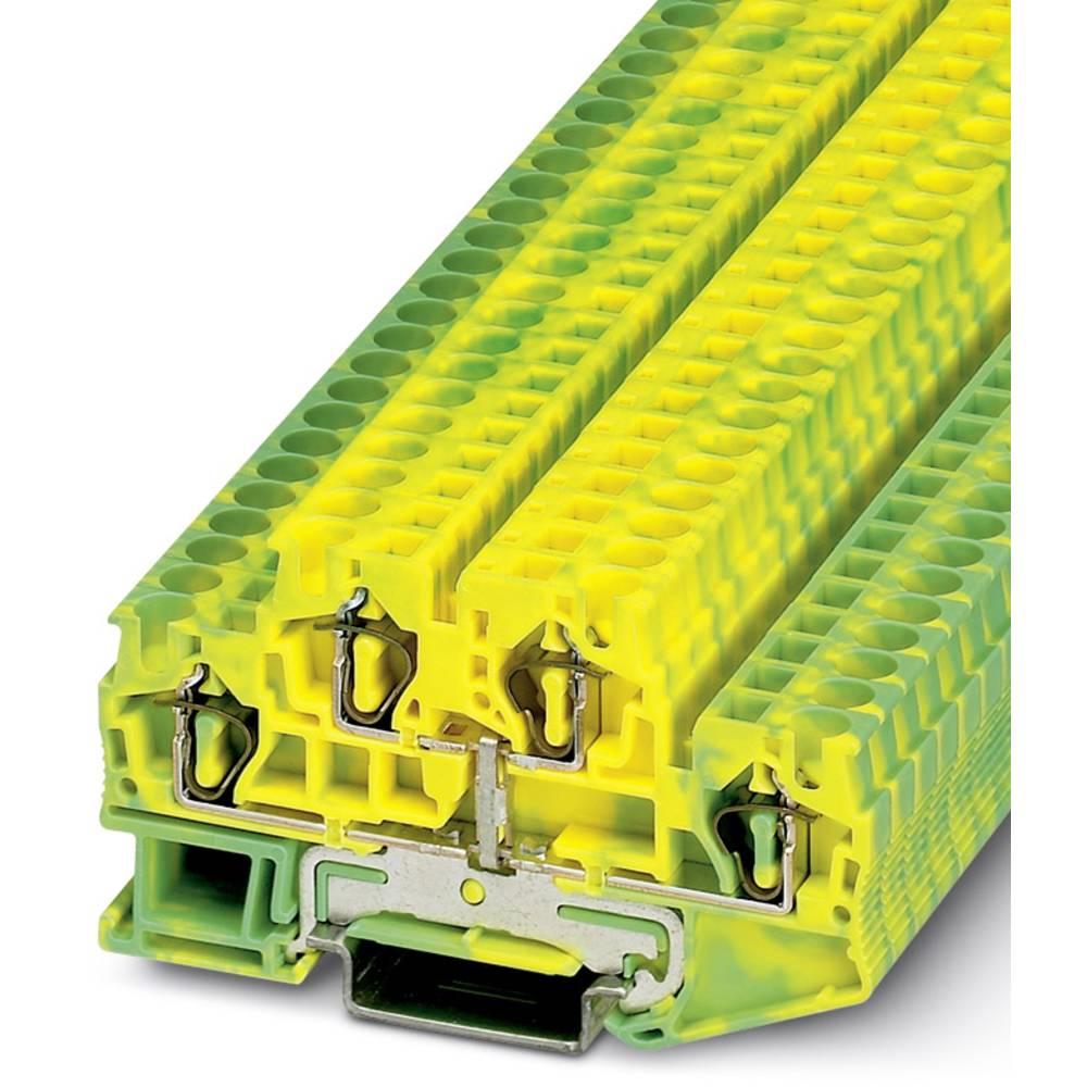 Gennem terminal STTB 4-PE Phoenix Contact STTB 4-PE Grøn-gul 50 stk