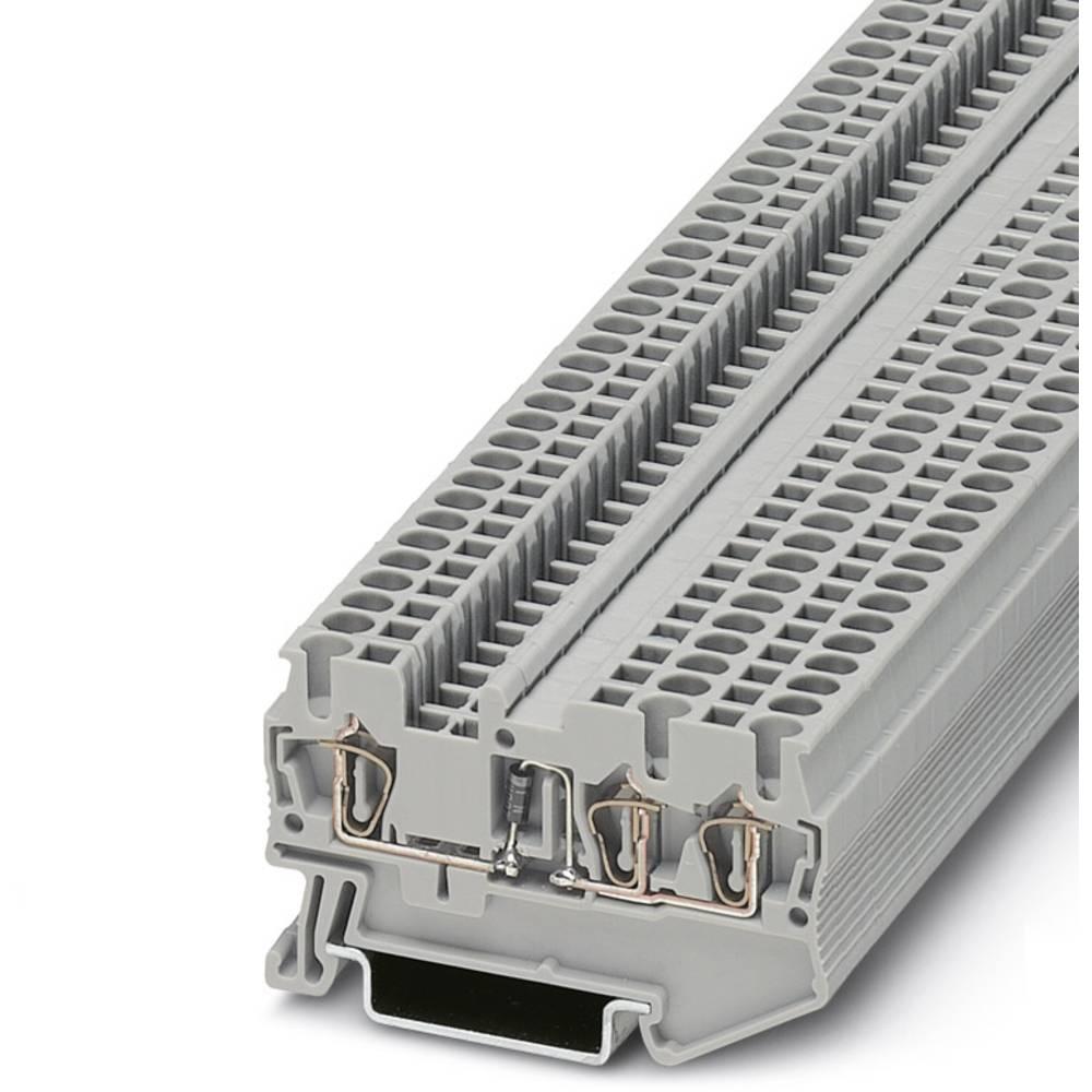 Komponent terminal ST 2.5-TWIN-DIO / LR Phoenix Contact ST 2,5-TWIN-DIO/L-R Grå 50 stk