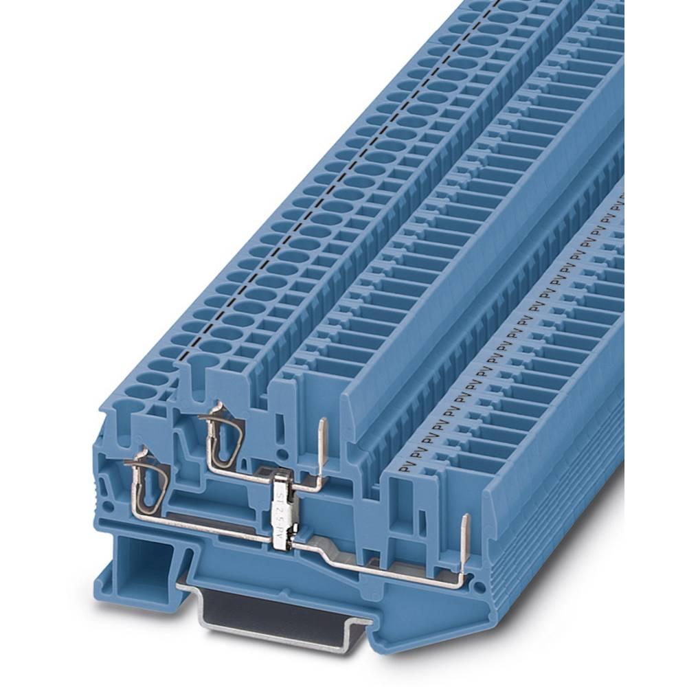 Dobbelt-deck terminal STTB 2,5 / 2P-PV BU Phoenix Contact STTB 2,5/2P-PV BU Blå 50 stk