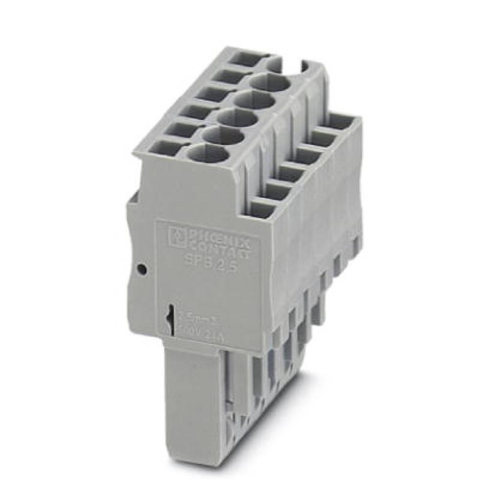 Plug SPB 2.5 / 8 Phoenix Contact SPB 2,5/ 8 Grå 25 stk