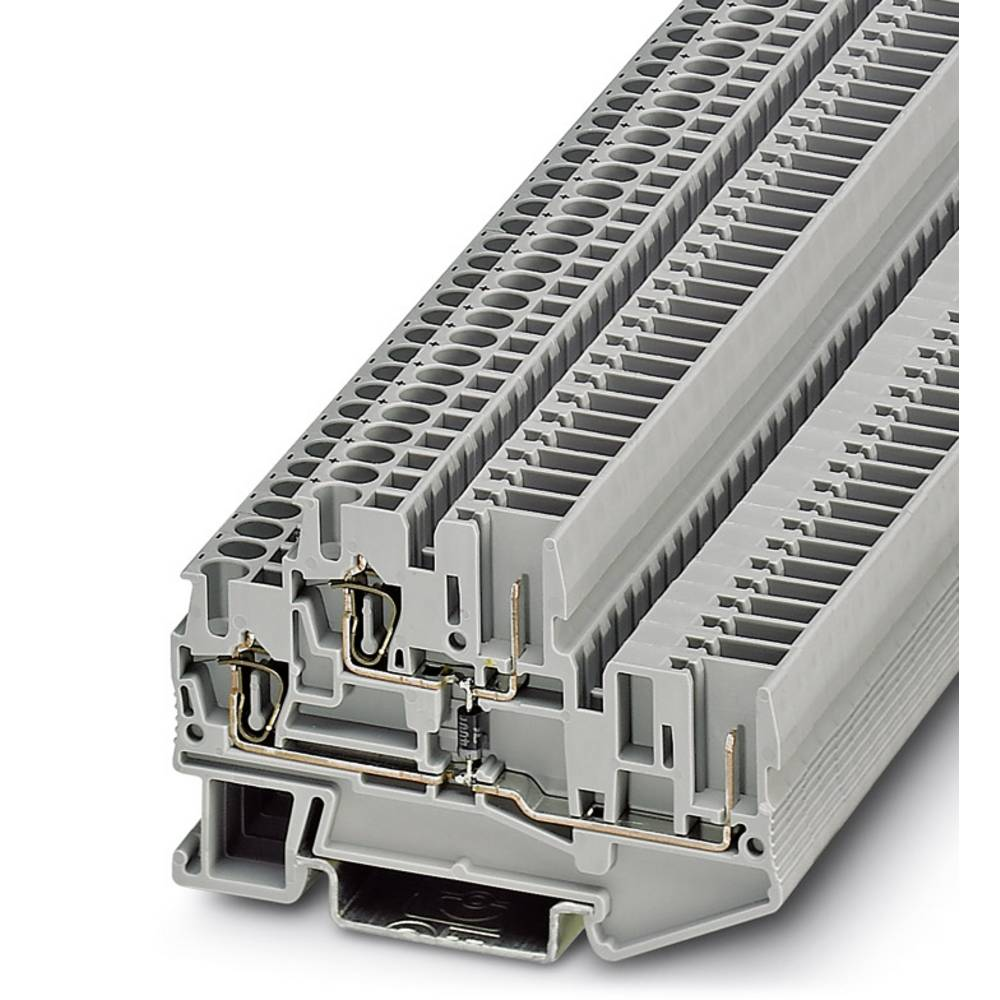 Dobbelt-deck terminal STTB 2,5 / 2P-DIO / O-U Phoenix Contact STTB 2,5/2P-DIO/O-U Grå 50 stk