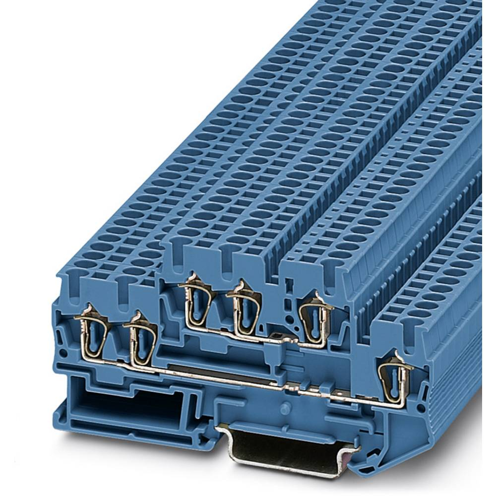 Feed-through terminal block STTB 2,5-TWIN BU Phoenix Contact STTB 2,5-TWIN BU Blå 50 stk