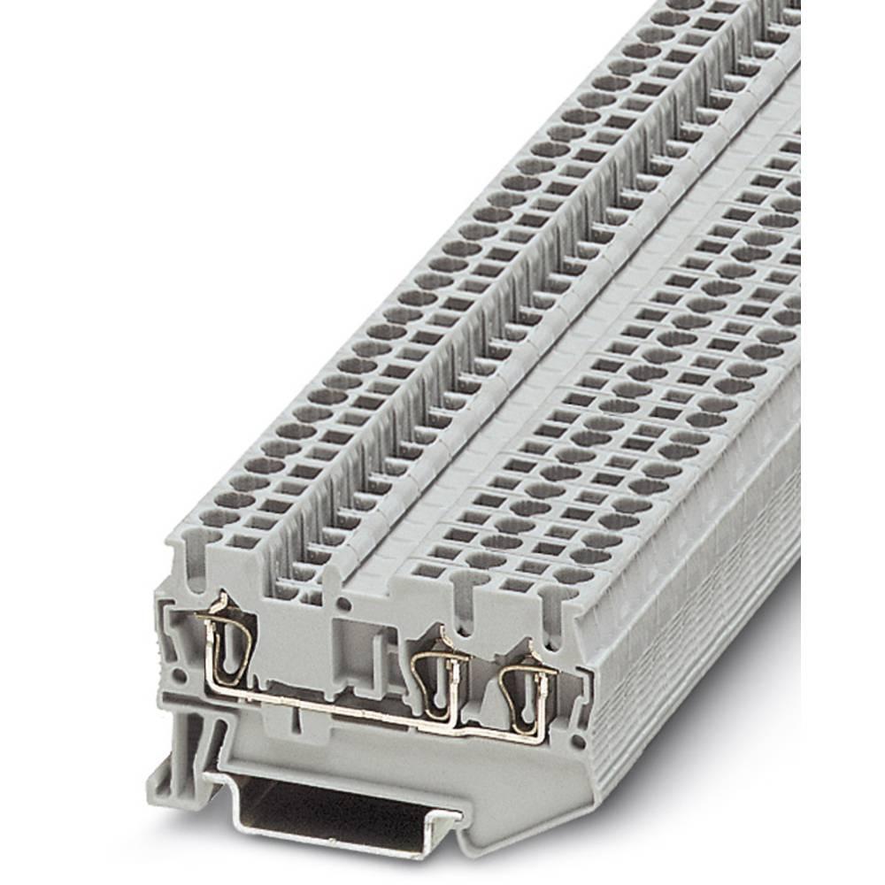 Component terminal block ST 2,5-TWIN-R1K 0,6W Phoenix Contact ST 2,5-TWIN-R1K 0,6W Grå 50 stk
