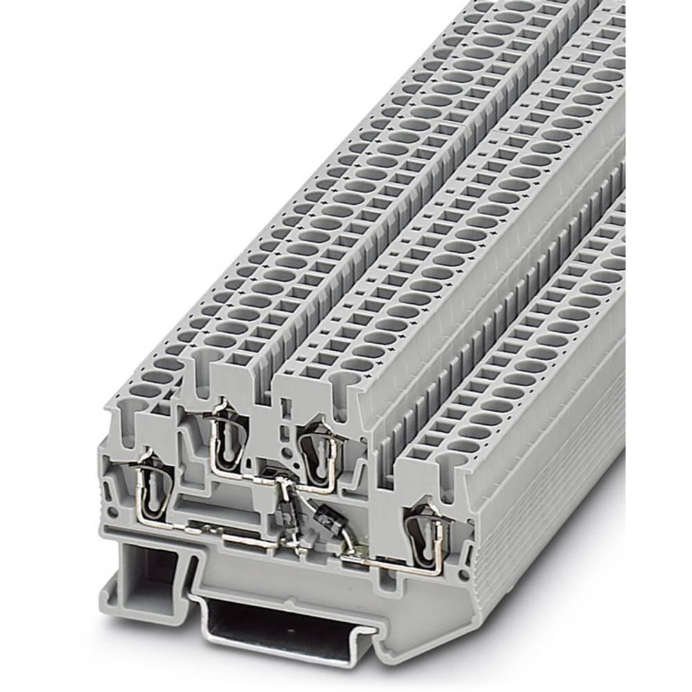 Component terminal block STTB 2,5-2DIO/UL-O/UR-O Phoenix Contact STTB 2,5-2DIO/UL-O/UR-O Grå 50 stk