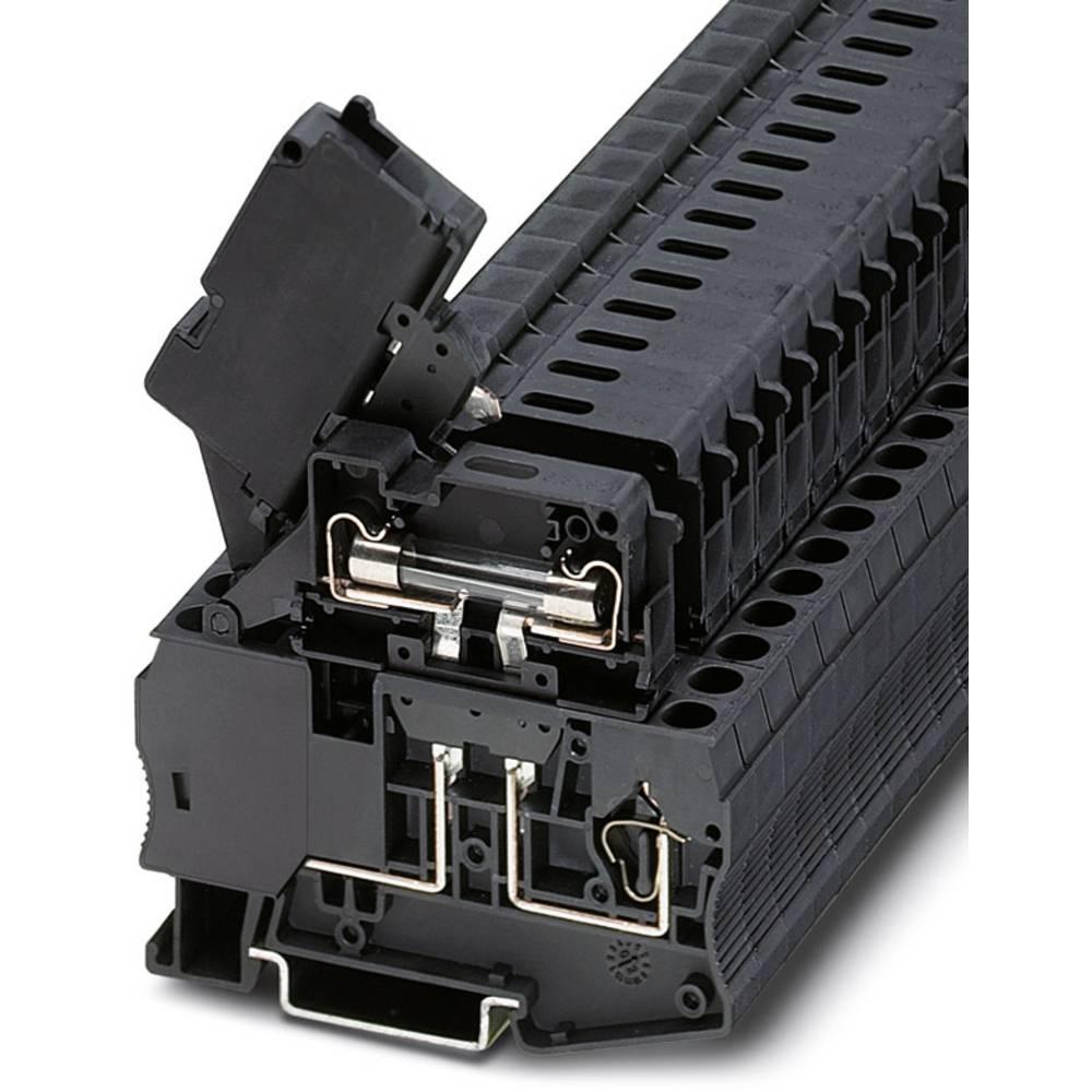 Fuse modular terminal block ST 4-HESILED 24 (6,3X32) Phoenix Contact ST 4-HESILED 24 (6,3X32) Sort 50 stk