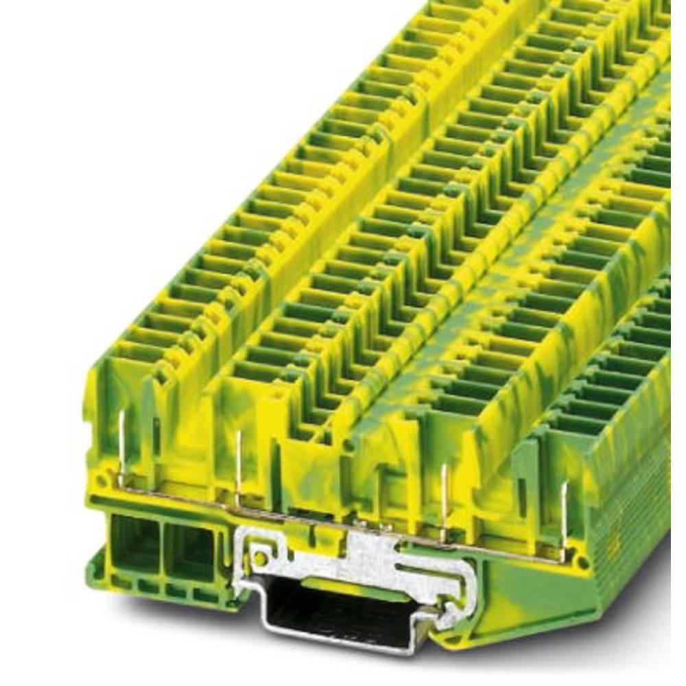 Beskyttende leder klemrække ST 2,5-QUATTRO / 4P-PE Phoenix Contact ST 2,5-QUATTRO/4P-PE Grøn-gul 50 stk