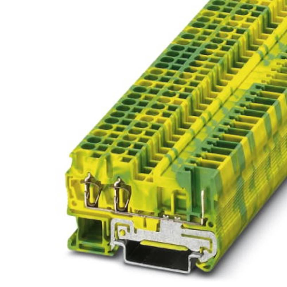 Beskyttende leder klemrække ST 2,5-TWIN / 1P-PE Phoenix Contact ST 2,5-TWIN/ 1P-PE Grøn-gul 50 stk