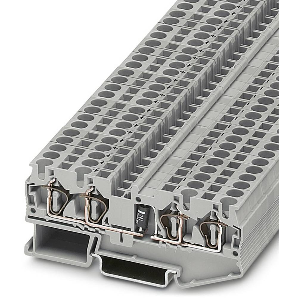 Komponent terminal ST 4-QUATTRO-DIO 1N 5408 / LR Phoenix Contact ST 4-QUATTRO-DIO 1N 5408/L-R Grå 50 stk