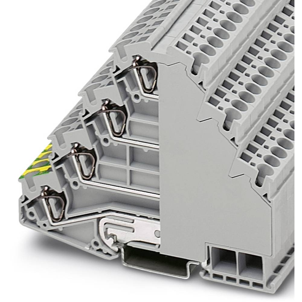 Installation tier terminal ST 4-PE / 3L Phoenix Contact ST 4-PE/3L Grå 50 stk