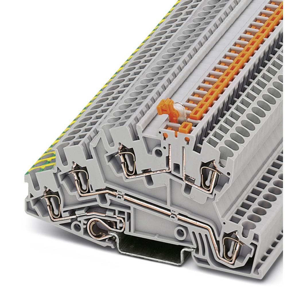 Installation tier terminal STI 2,5 PE / L / LTB Phoenix Contact STI 2,5-PE/L/LTB Grå 50 stk