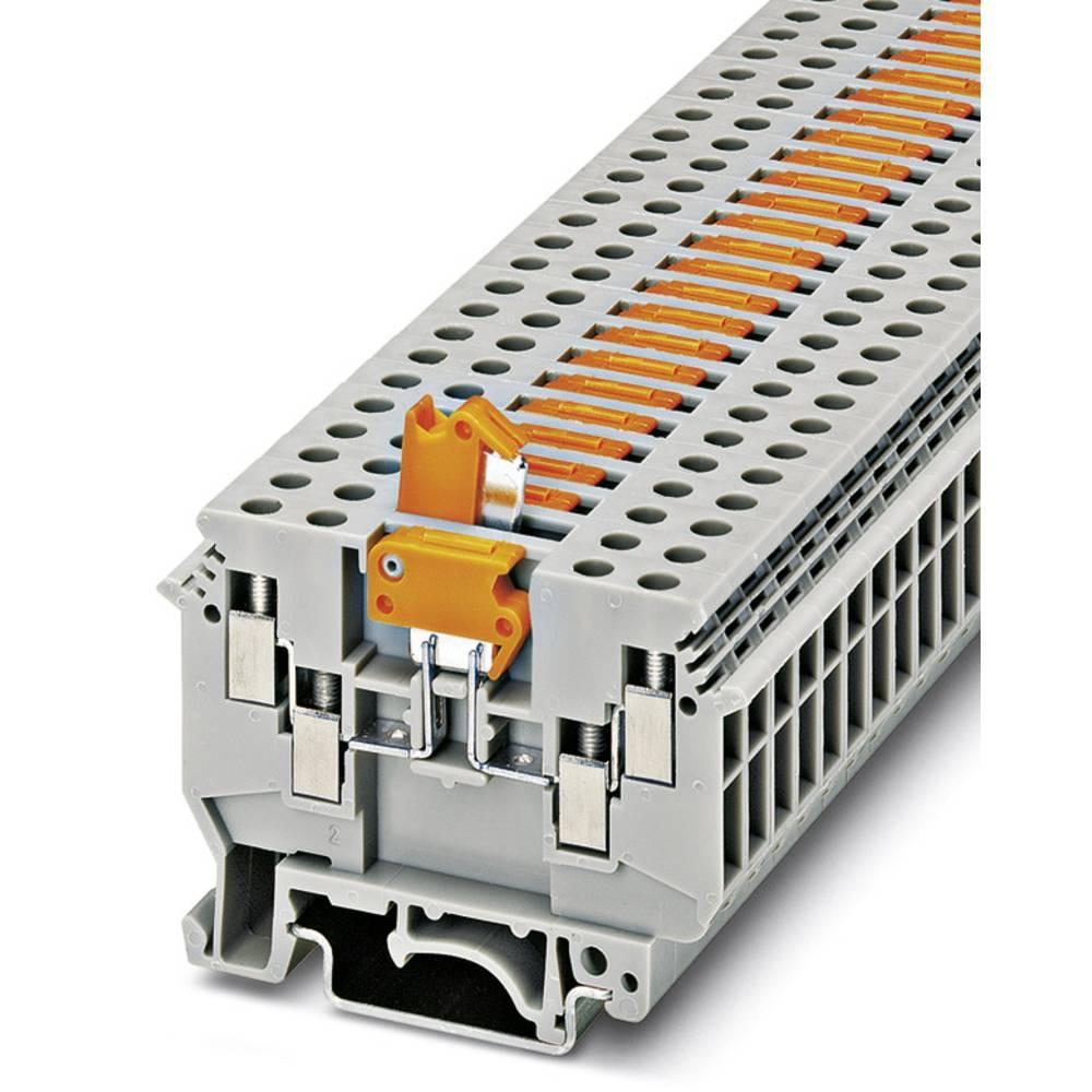 Gennem klemme UDK 4-MTK-P / P med lås Phoenix Contact UDK 4-MTK-P/P MIT SPERRE Grå 50 stk