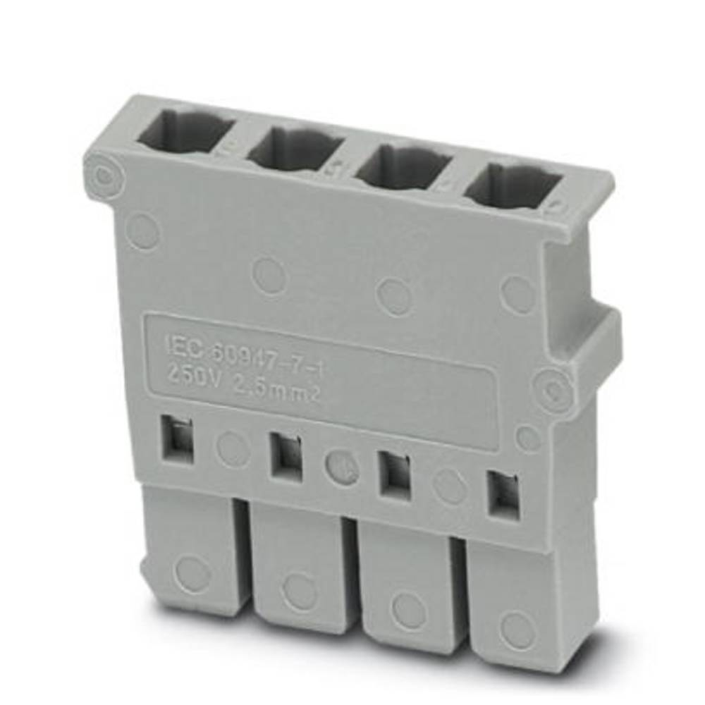Plug SP 2,5 / 4 NZ: 4 Phoenix Contact SP 2,5/ 4 NZ:4 Grå 50 stk