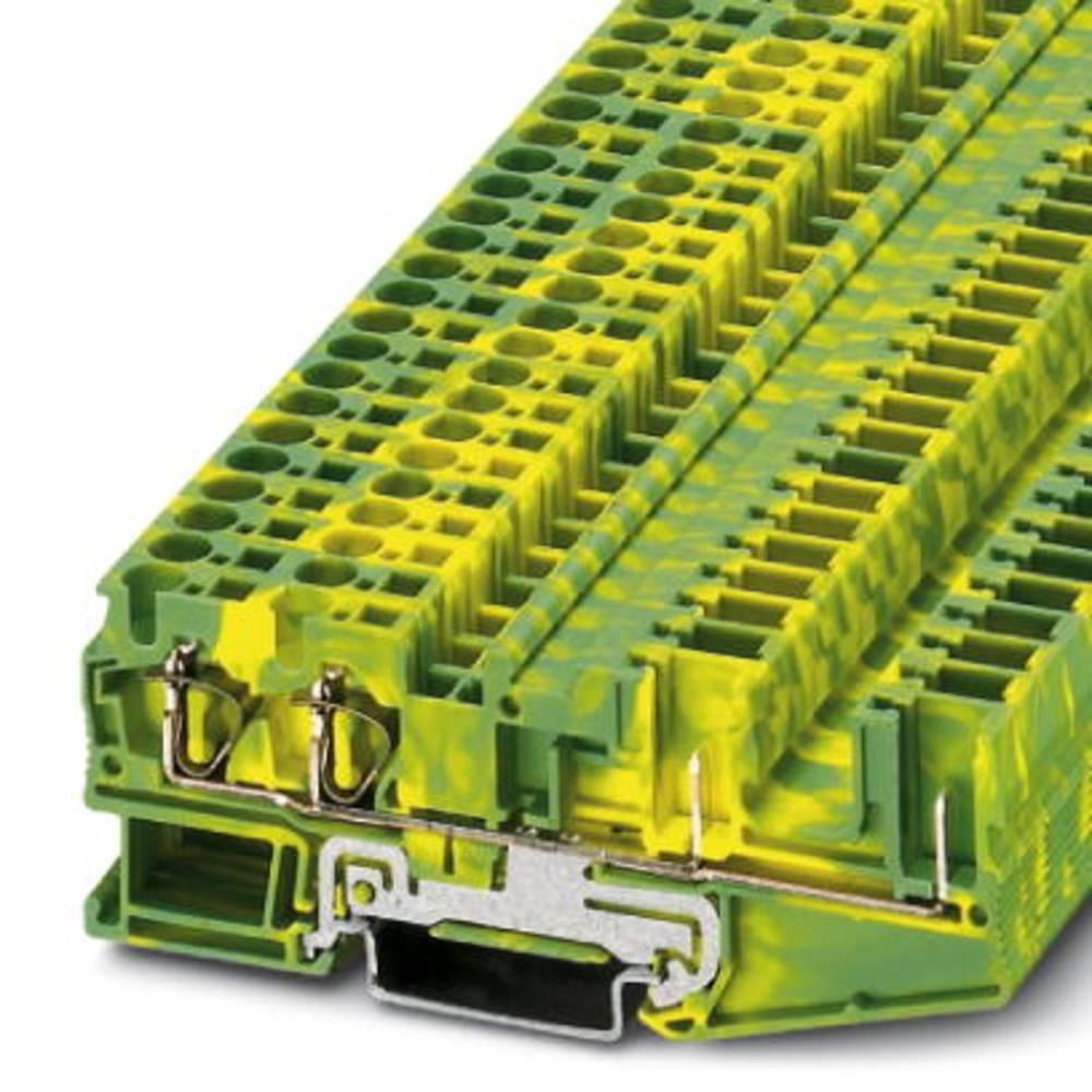 Beskyttende leder klemrække ST 4-QUATTRO / 2P-PE Phoenix Contact ST 4-QUATTRO/2P-PE Grøn-gul 50 stk