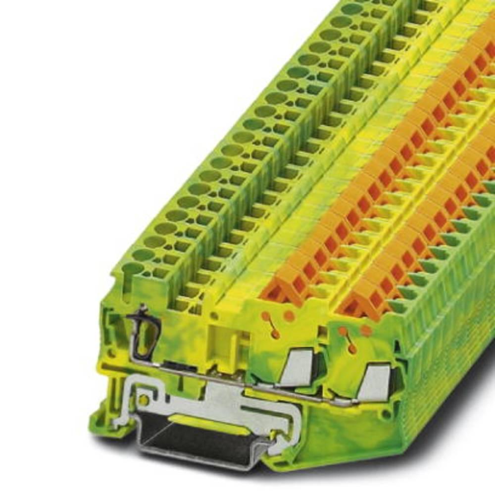 Gennem terminal QTC 1.5-TWIN-PE Phoenix Contact QTCS 1,5-TWIN-PE Grøn-gul 50 stk