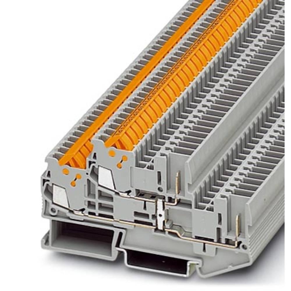 Dobbelt-deck terminal QTTCB 1,5 / 2P-PV Phoenix Contact QTTCB 1,5/ 2P-PV Grå 50 stk