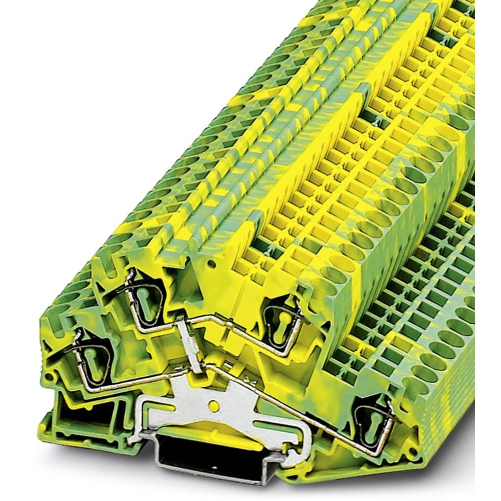 Gennem terminal STTBS 4-PE Phoenix Contact STTBS 4-PE Grøn-gul 50 stk