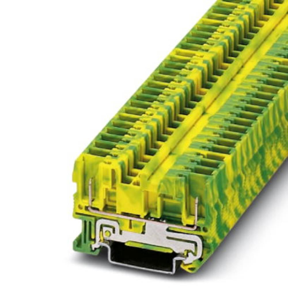 Beskyttende leder klemrække ST 4 / 2P-PE Phoenix Contact ST 4/ 2P-PE Grøn-gul 50 stk