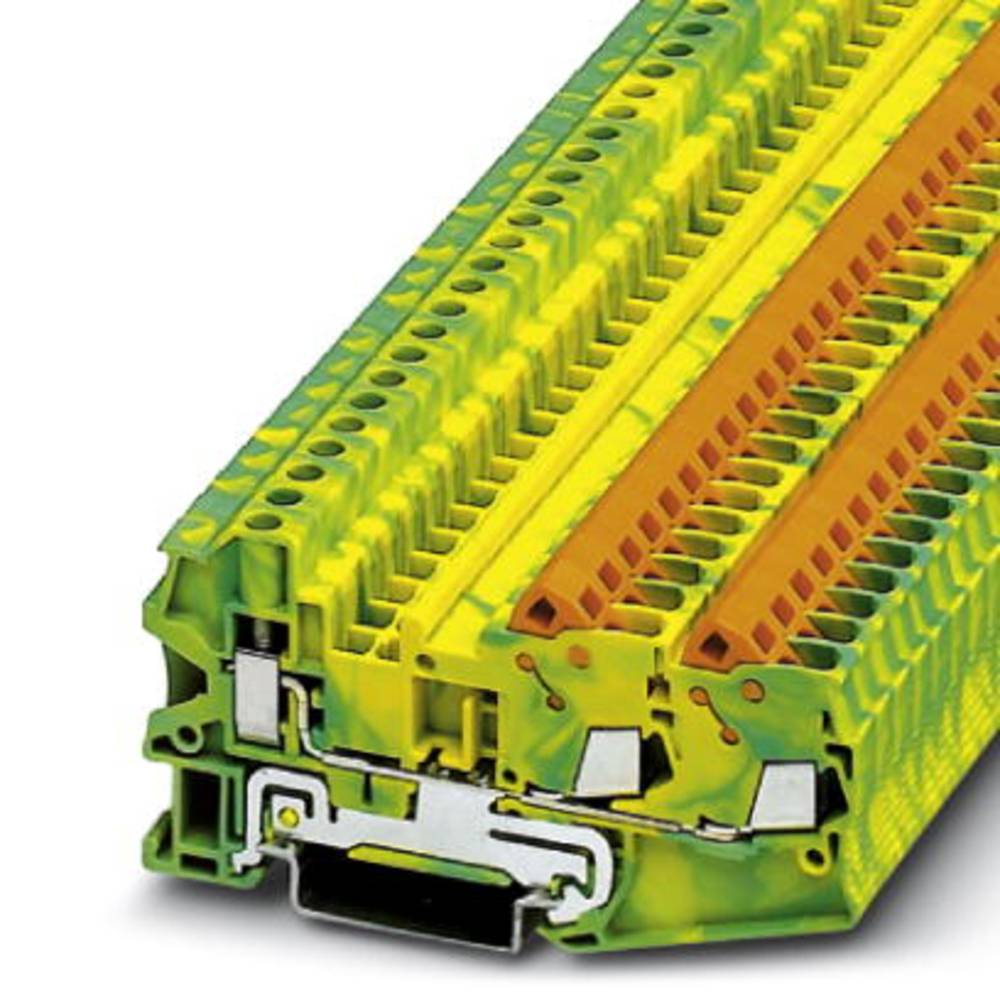Gennem terminal QTCU 2,5-TWIN-PE Phoenix Contact QTCU 2,5-TWIN-PE Grøn-gul 50 stk