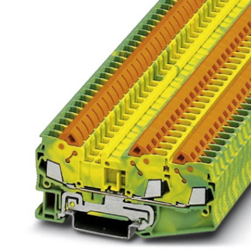 Gennem terminal QTC 2.5-TWIN-PE Phoenix Contact QTC 2,5-TWIN-PE Grøn-gul 50 stk