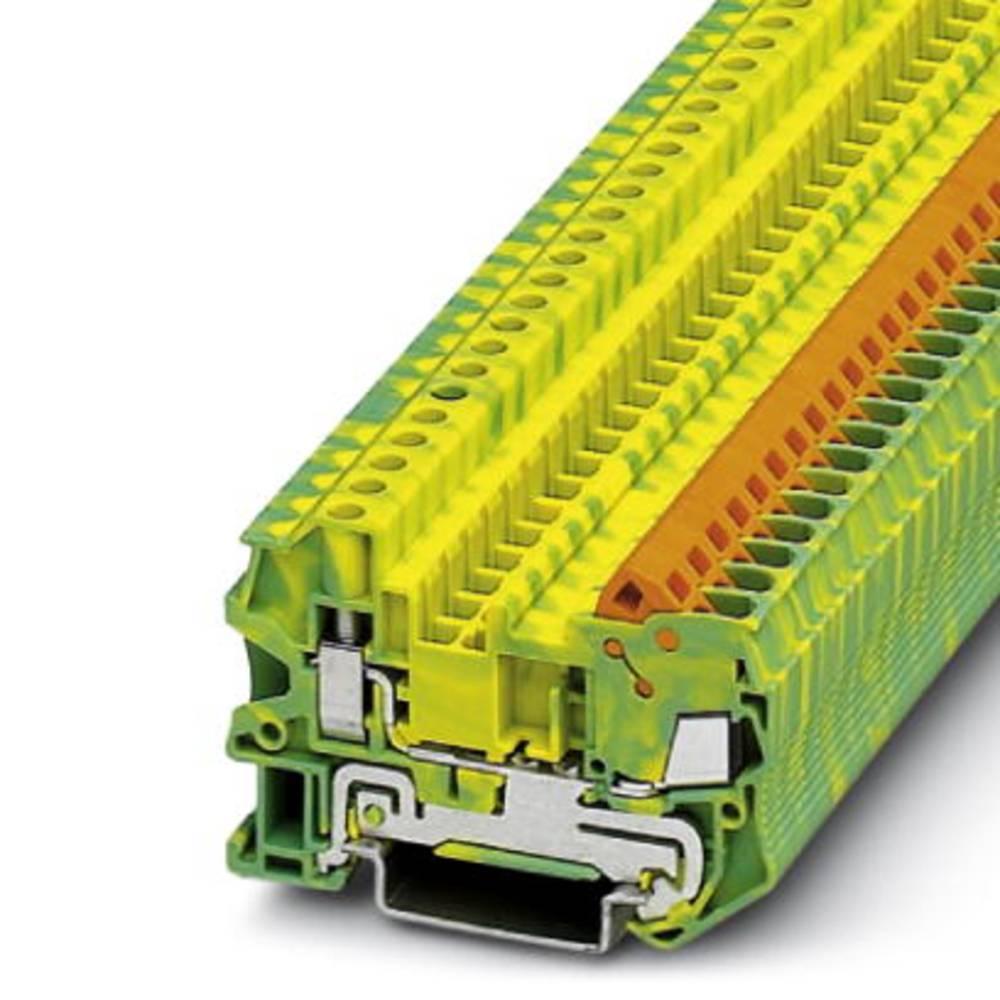 Gennem terminal QTCU 2,5 PE Phoenix Contact QTCU 2,5-PE Grøn-gul 50 stk