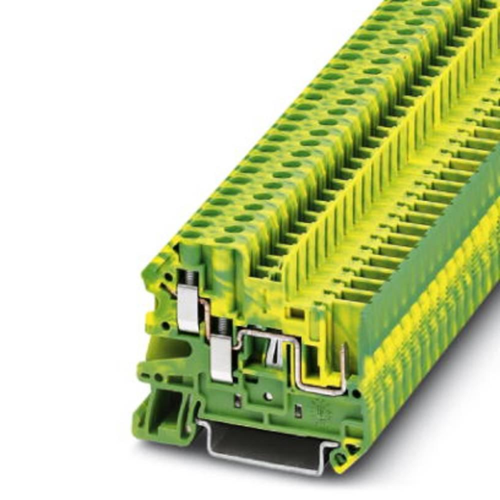 Beskyttende leder klemrække UT 4-TWIN / 1P-PE Phoenix Contact UT 4-TWIN/ 1P-PE Grøn-gul 50 stk