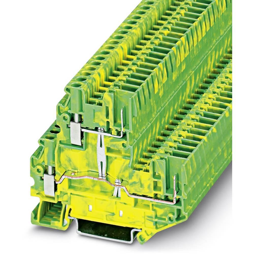 Beskyttende leder dobbeltdækker terminal UTTB 2,5 / 2P-PE Phoenix Contact UTTB 2,5/2P-PE Grøn-gul 50 stk