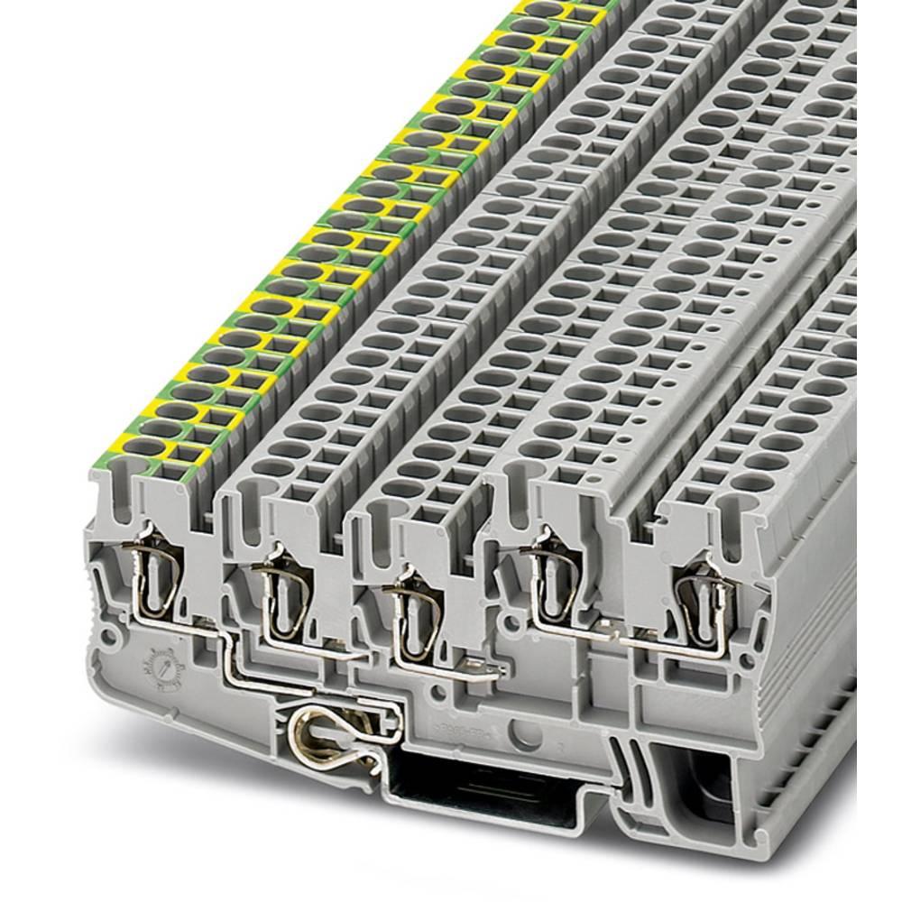 Initiator / aktuator terminal STIO 2,5 / 4-PE / 2B / L Phoenix Contact STIO 2,5/4-PE/2B/L Grå 50 stk