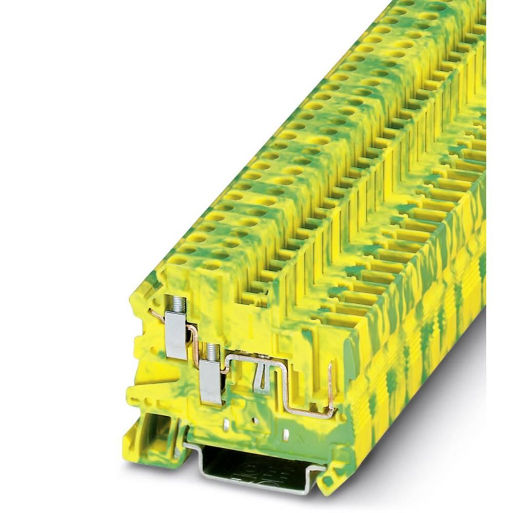 Beskyttende leder klemrække UT 2,5-TWIN / 1P-PE Phoenix Contact UT 2,5-TWIN/1P-PE Grøn-gul 50 stk