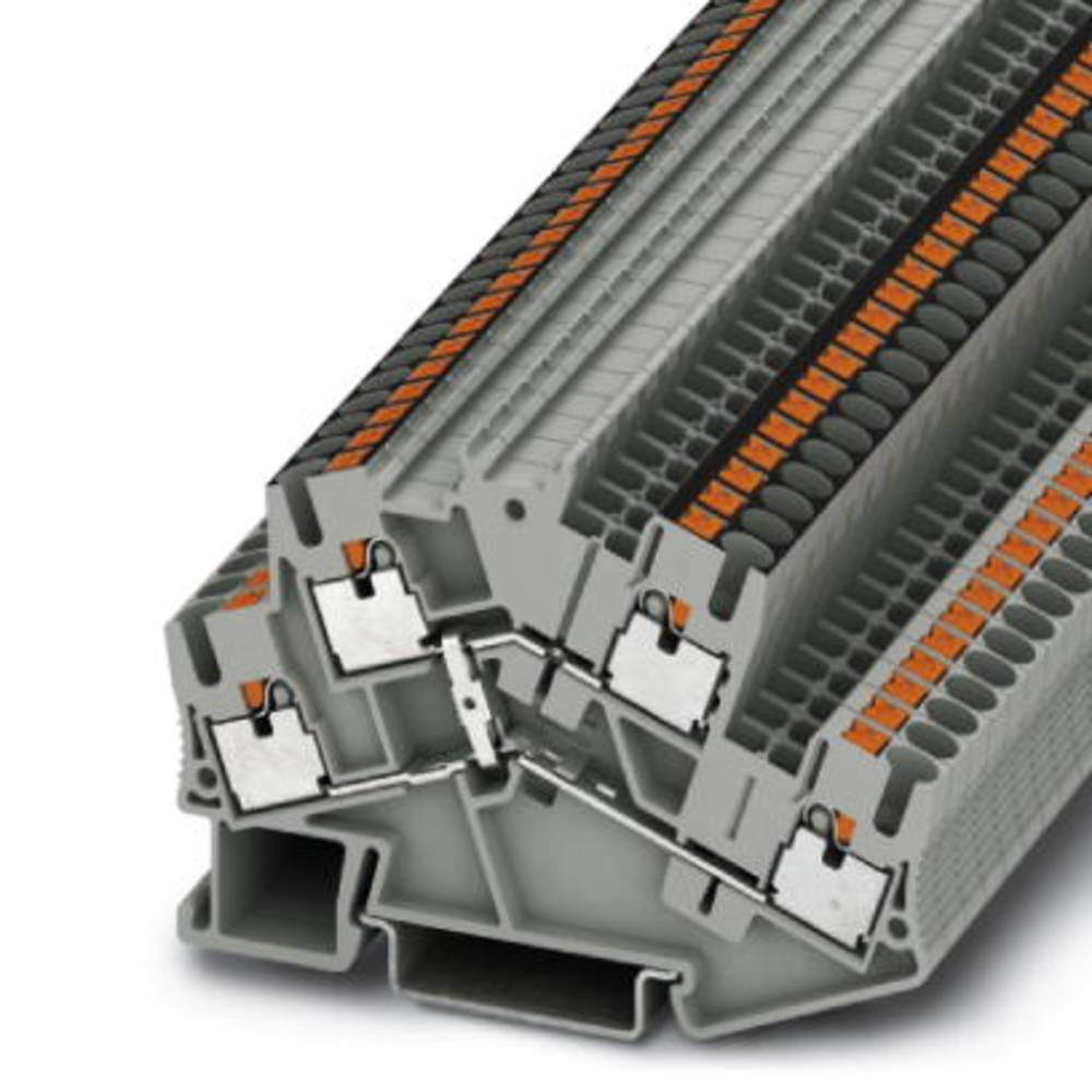 Dobbelt-deck terminal PTTBS 2.5-PV Phoenix Contact PTTBS 2,5-PV Grå 50 stk