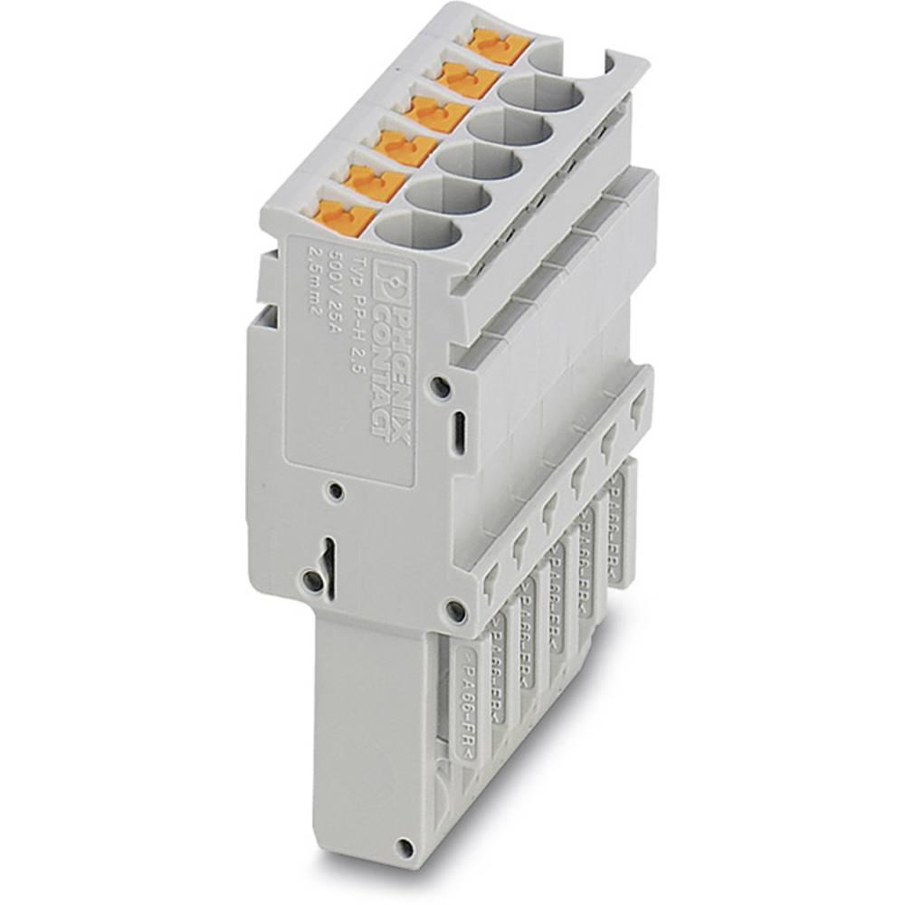 Plug PP-H 2,5 / 10 Phoenix Contact PP-H 2,5/10 Grå 25 stk