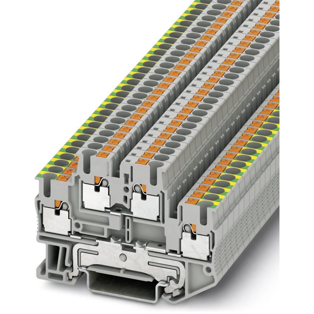 Toetages terminal PTTB 2,5-PE / L Phoenix Contact PTTB 2,5-PE/L Grå 50 stk