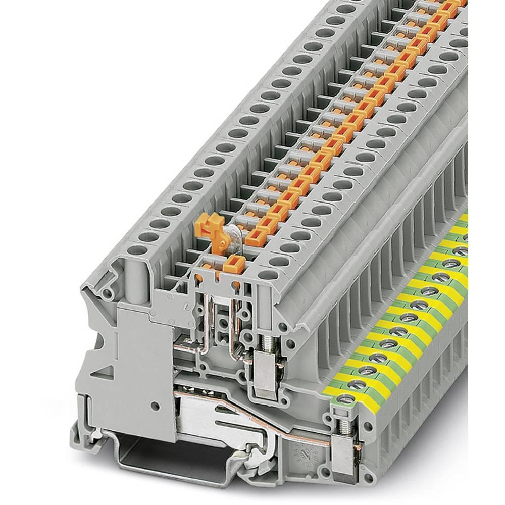 Kniv afbryde terminal blok UT 4-PE / MT Phoenix Contact UT 4-PE/MT Grå 50 stk