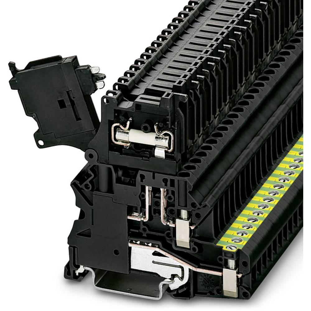 Sikring terminal UT 4-PE / Hesi LED 60 (5X20) Phoenix Contact UT 4-PE/HESI LED 60 (5X20) Sort 50 stk